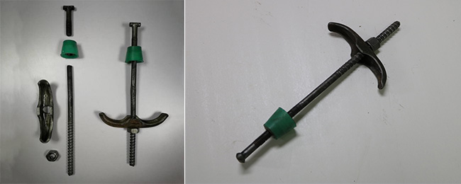 可拆卸的锁脚螺栓
